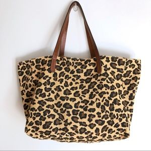 Gap Leopard Cheetah Print Large Tote Bag Purse